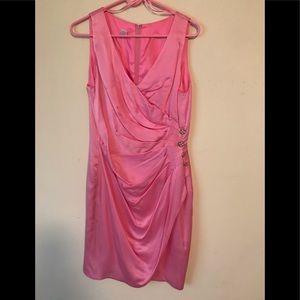 100% Silk Sleeveless Cocktail Dress - Size 12